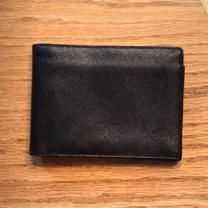 Mark Cross Black Leather Wallet